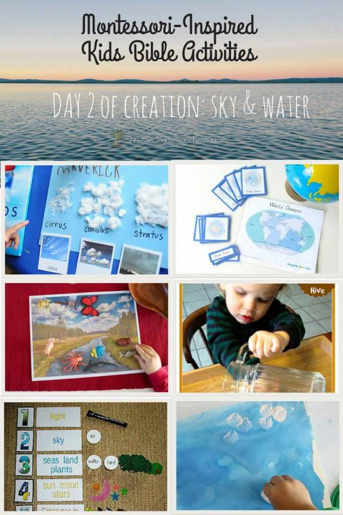 sky and water, exploring creation through hands-on learning. www.ChristianMontessoriNetwork.com