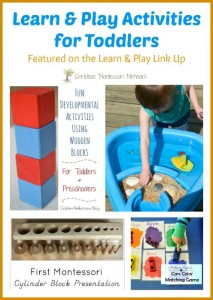 Learn and Play Activities for Toddlers {Learn & Play Link Up #6 }