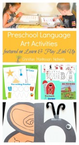 Preschool Language Arts Activities –  Learn & Play Link Up #13