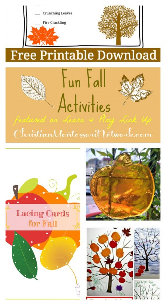Fun Fall activities on ChristianMontessoriNetwork.com!