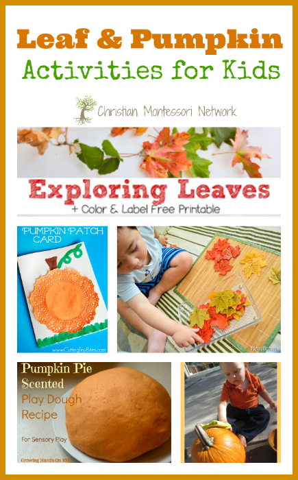Leaf & Pumpkin Activities for Kids - www.christianmontessorinetwork.com
