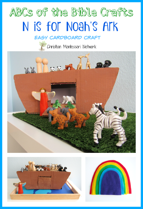 This is an easy DIY tutorial for N is for Noah's Ark shoebox craft. This is part of the ABCs for the Bible Crafts series. - www.christianmontessorinetwork.com