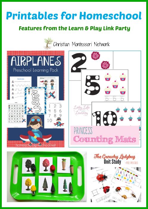 Printables for Homeschool - www.christianmontessorinetwork.com