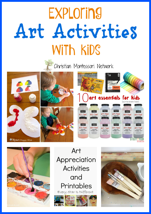 Find new inspiration with our post on Exploring Art Activities with Kids - www.christianmontessorinetwork.com