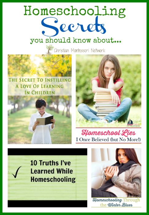 Homeschooling Secrets - www.christianmontessorinetwork.com