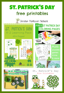 St. Patrick's Day with Free Printables {Learn & Play Link Up}