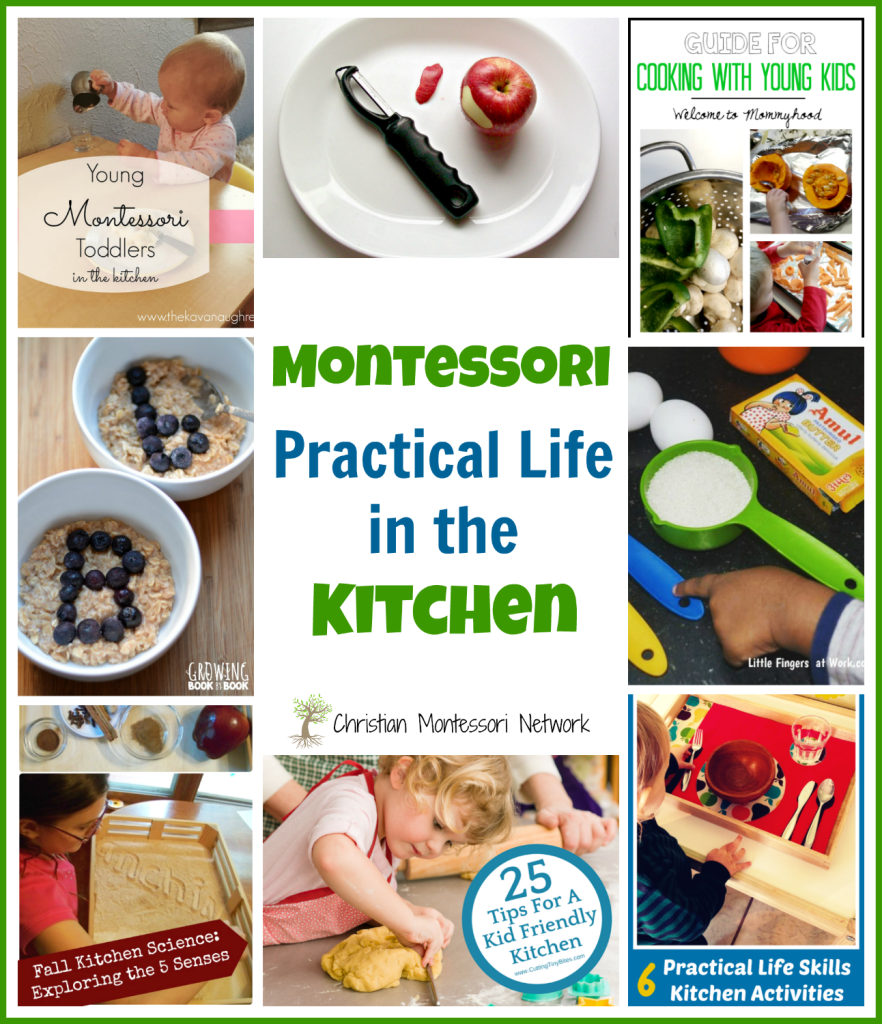 Montessori practical life in the kitchen learn play for Our life in the kitchen