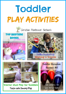 Toddler Play Activities {Learn & Play Link Up}