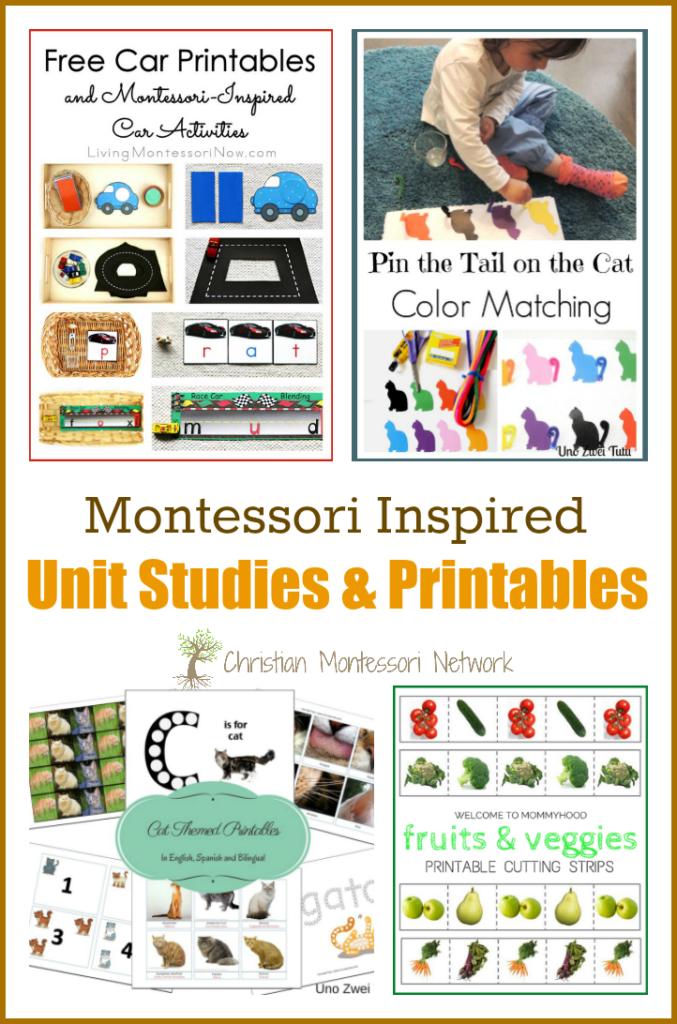 Montessori Inspired Unit Studies and Printables - www.christianmontessorinetwork.com