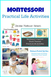 Montessori Practical Life Activities {Learn & Play Link Up}
