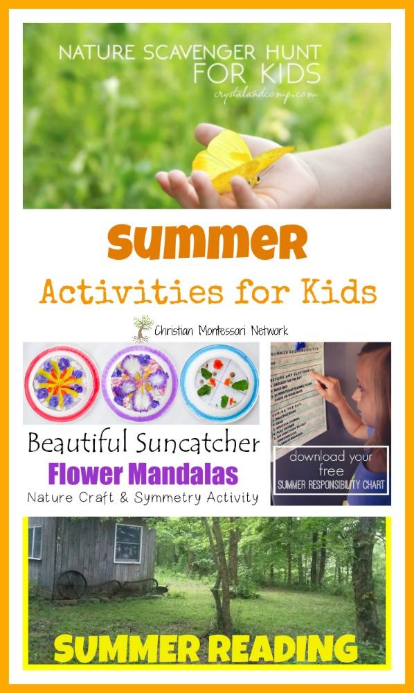 Summer Activities - www.christianmontessorinetwork.com