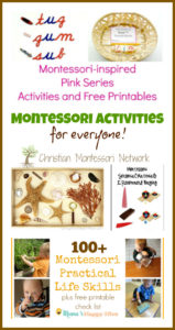 Montessori Activities for Everyone {Learn & Play Link Up}
