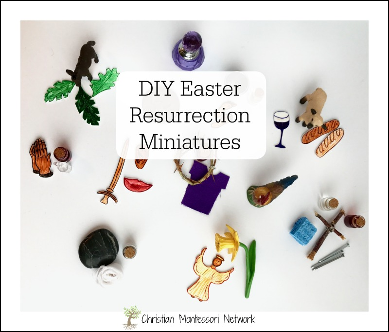 He is Risen! The resurrection is WHY we are Christians and it's a true joy to pass on the lesson to our children. Use these DIY Easter Resurrection Miniatures to create a Montessori-Inspired lesson for your homeschool and church preschool.